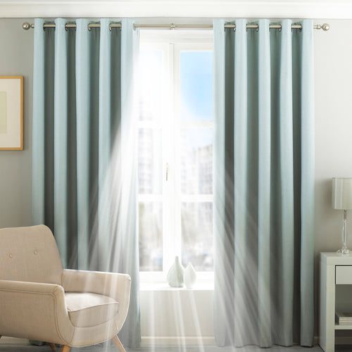 Image of the Twilight Thermal Blackout Eyelet Curtain | Duck Egg | Essentials