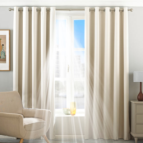 Image of the Twilight Thermal Blackout Eyelet Curtain | Ivory | Essentials