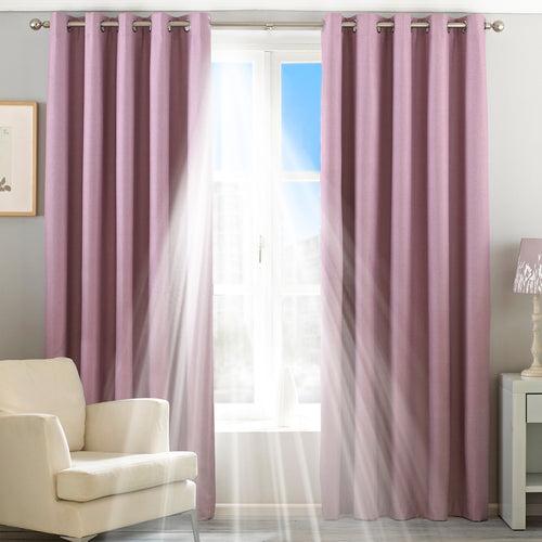 Image of the Twilight Thermal Blackout Eyelet Curtain | Mauve | Essentials