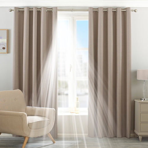 Image of the Twilight Thermal Blackout Eyelet Curtain | Natural | Essentials