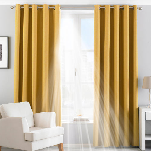 Image of the Twilight Thermal Blackout Eyelet Curtain | Ochre | Essentials