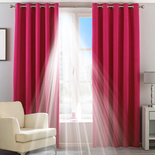 Image of the Twilight Thermal Blackout Eyelet Curtain | Pink | Essentials