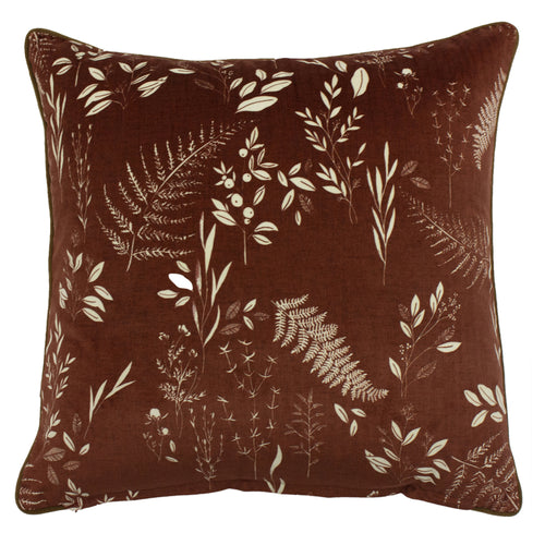 Image of the Fearne Printed Velvet Cuhion Cover | Brick  | furn.