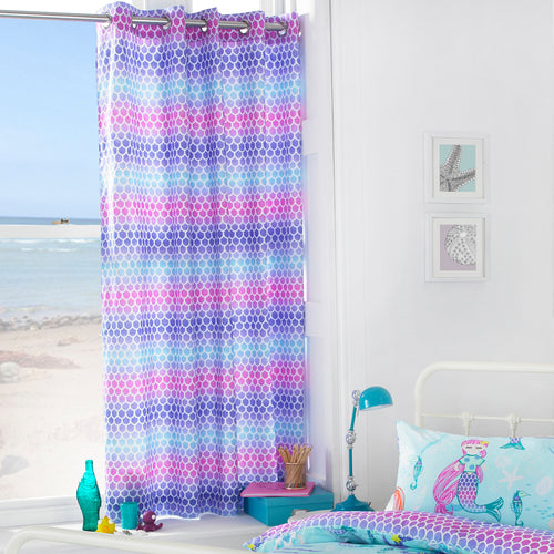 Image of the Mermaid Kids Pencil Pleat Curtain | Blue | little furn.