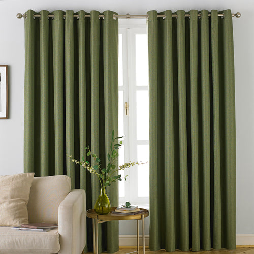 Image of the Moon Premium Thermal Blackout Eyelet Curtain | Khaki | furn.