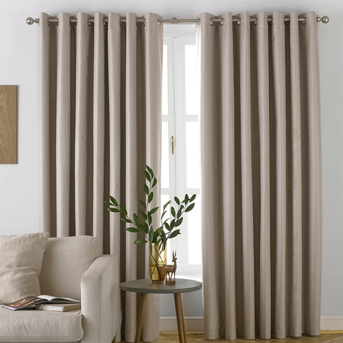 Image of the Moon Premium Thermal Blackout Eyelet Curtain | Natural | furn.