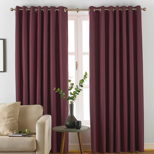 Image of the Moon Premium Thermal Blackout Eyelet Curtain | Berry | furn.
