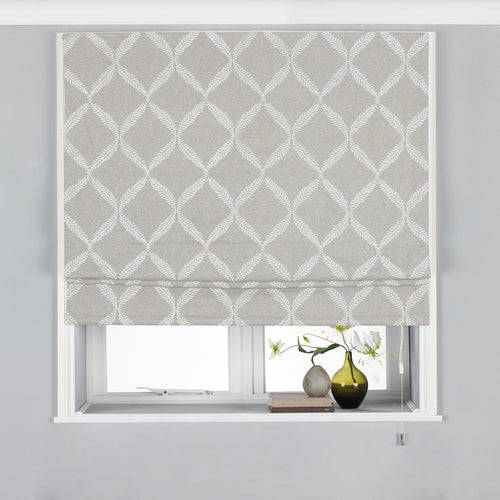 Image of the Olivia Lattice Embroidered Roman Blind | Grey | Paoletti