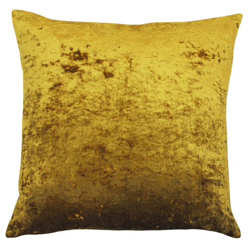 Image of the Verona Crushed Velvet Cuhion Cover | Ochre | Paoletti
