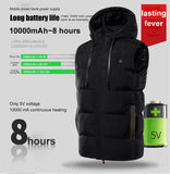 Winter Hoodie Heating Vest Men Women