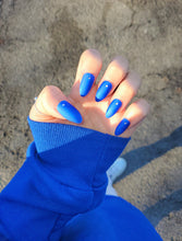 Load image into Gallery viewer, [Matte] Ocean Blue Press-on Nails