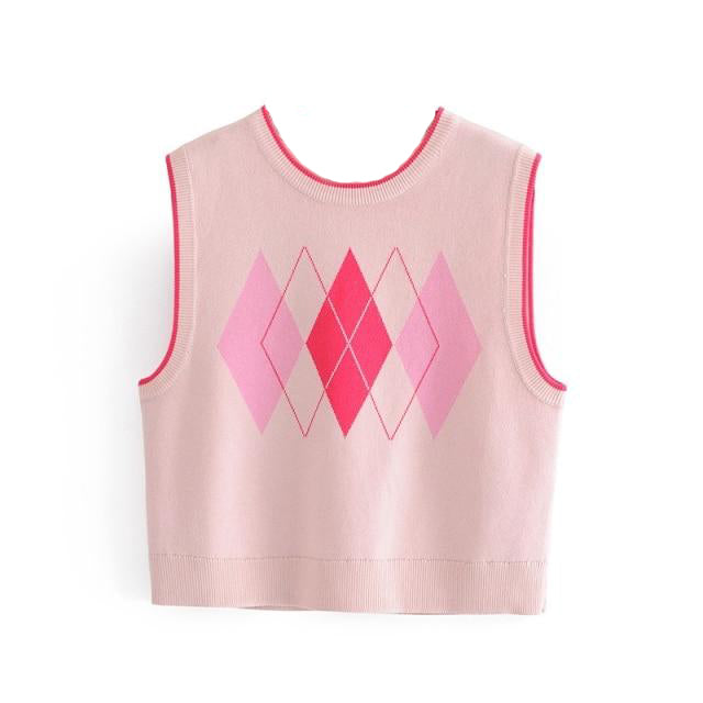 Geometry Knitted Vest