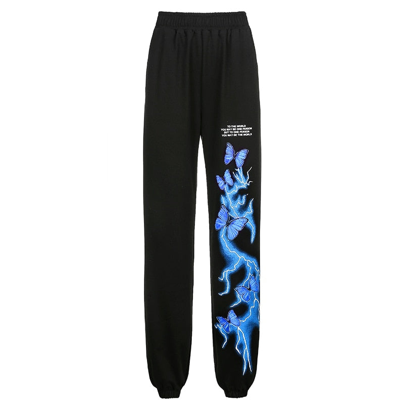 Gothic Butterfly Lightning Tshirt And Sweatpants