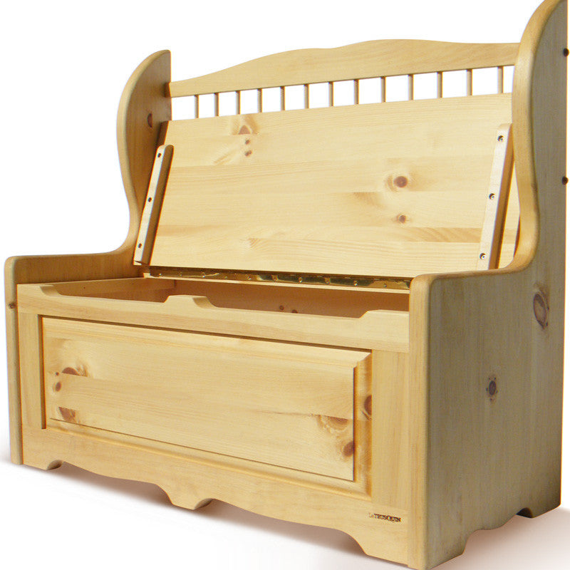 parson 39 s bench themed toy box coffre jouets style banc. Black Bedroom Furniture Sets. Home Design Ideas