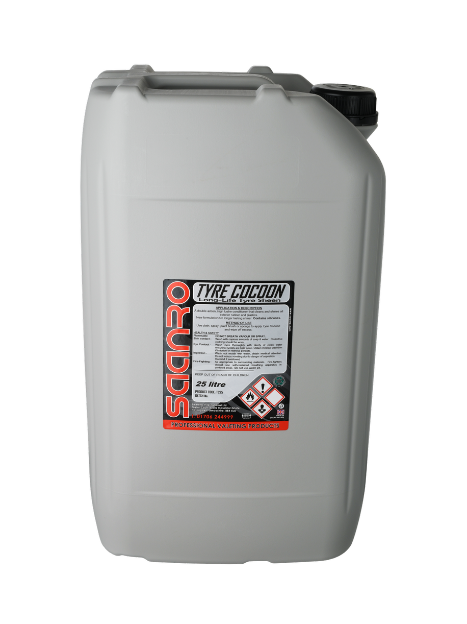 TYRE COCOON™ High Shine Rubber & Plastic Dressing - 25 Litres