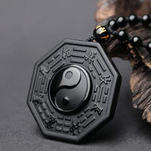 Load image into Gallery viewer, Obsidian Yin & Yang Pendant