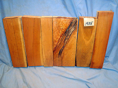 #1985 (6) Wild Cherry Boards Rustic Lumber