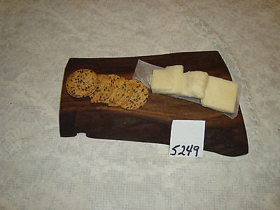 # 5249 rustic wooden cheese serving cutting board live edge red elm USA made