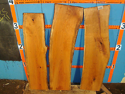 # 7795  3, cherry live edge slabs wood lumber rustic