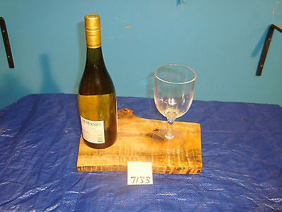 # 7133 rustic wooden cheese serving board live edge spalted tiger maple USA made