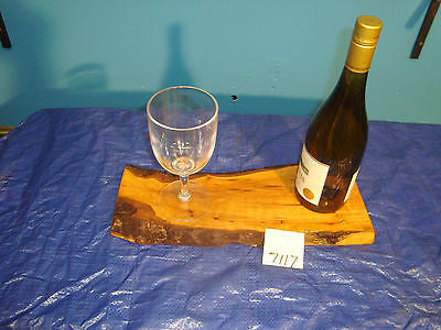 # 7117 rustic wooden cheese serving board live edge wild apple USA made