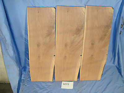 # 6012  3, thin crotch Black Walnut Live Edge Slabs lumber craft wood