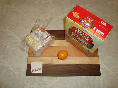 # 5258 rustic wooden cheese board serving cutting walnut cherry ash mixed