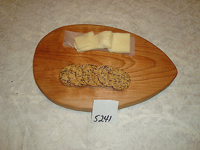 # 5241 rustic wooden cheese serving cutting board live edge wild cherry USA