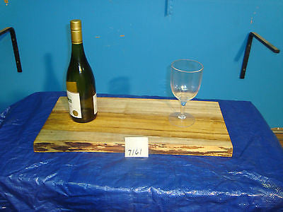 # 7161 rustic wooden cheese serving board live edge spalted maple USA made