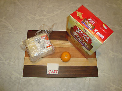 # 5259 rustic wooden cheese board serving cutting walnut cherry ash mixed