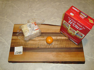 # 5240 rustic wooden cheese board serving cutting walnut tiger maple cherry