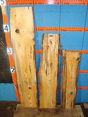 # 7841  3, scotch pine Live Edge Slabs lumber craft wood