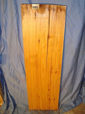 "# 4382 bird pecked hickory board lumber crafts wood  43""L 13 1/4""W 15/16""T"