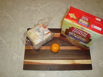 # 5253 rustic wooden cheese board walnut flaming box elder cherry mixed USA made