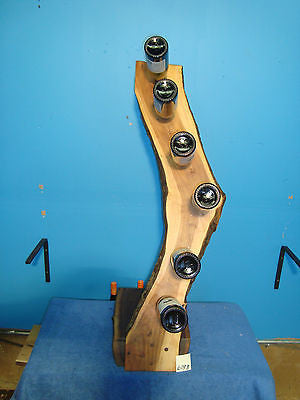 # 6183 apple and black walnut rustic live edge wine rack made in the USA
