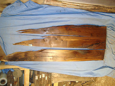 #4085 Three Live Edge Long Black Walnut Slabs Rustic Lumber