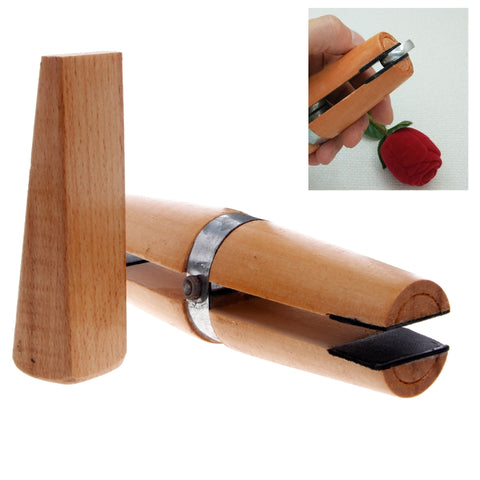 Wood Ring Clamp Jewelers Holder Jewelry Making Hand Tool Benchwork Professional wood tweezers