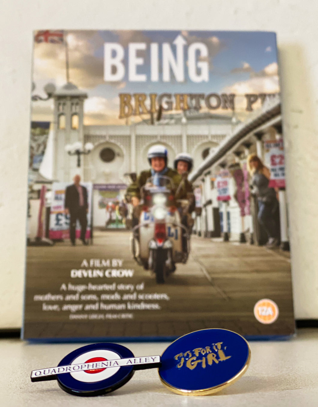 Go For It Girl + Quadrophenia Alley Pin Badge