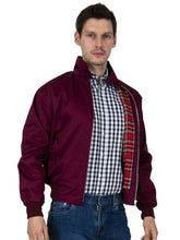 Load image into Gallery viewer, Oliver George Men's Classic Harrington Jacket Wine