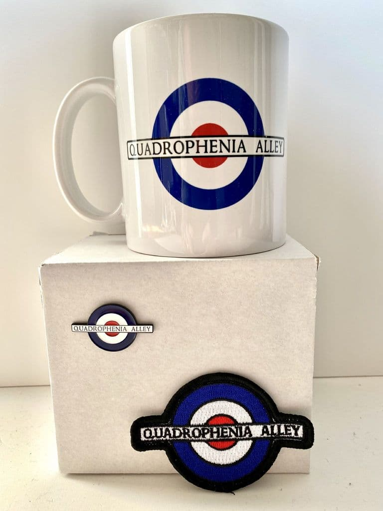 Quadrophenia Alley Gift Pack 1 - Mug, Badge & Patch
