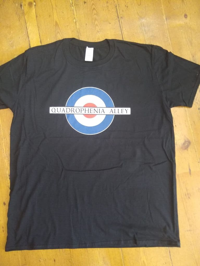 Quadrophenia Alley Men's Exclusive Mod Target Print T-Shirt Black