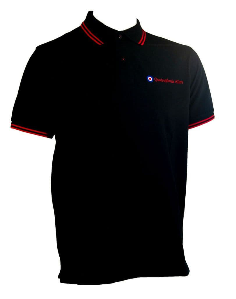 Quadrophenia Alley Men's Exclusive Target Polo Shirt Black/Red