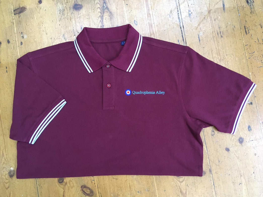 Quadrophenia Alley Men's Exclusive Target Polo Shirt Burgundy Sky
