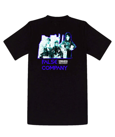 "Weekend Recovery ""False Company"" T-Shirt in Black"