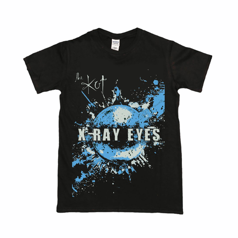 The Kut - X-Ray Eyes 'I Can See The End' T-Shirt in Silver & Blue