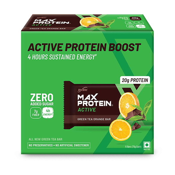 Max Protein Active Green Tea Orange (Pack of 6)