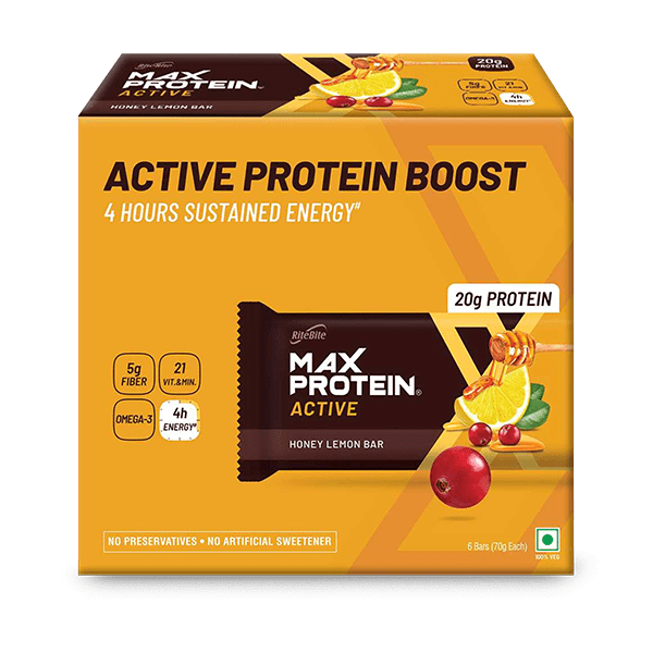 Max Protein Active Honey Lemon (Pack of 6)