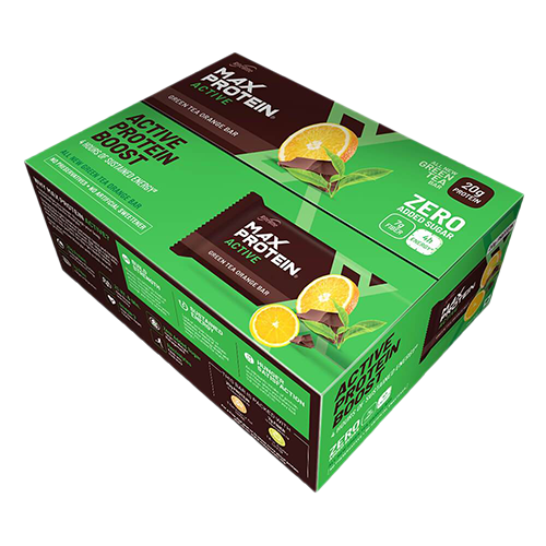 Max Protein Active Green Tea Orange (Pack of 12)