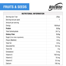 Load image into Gallery viewer, RiteBite Fruits & Seeds 420g - Pack of 12 - ritebite-max-protein