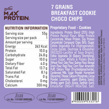 Load image into Gallery viewer, Max Protein Choco Chips Cookie (Pack of 12)